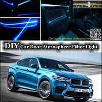 ambient power - interior Ambient Light DIY Tuning Atmosphere Fiber Optic Band Lights For BMW X6 X6 M Power Door Panel illumination Refit