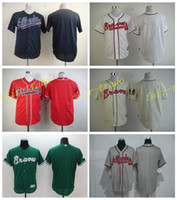 baseball uniform numbers - Blank Atlanta Braves Jersey Men Stitched Braves Baseball Jerseys Blank Personalized Uniforms Any Name and Number Cooperstown White Blue Red