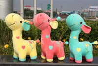 best furnishes - 30cm giraffe plush toys cartoon lovely animal giraffe plush doll best festival gift for kids Beautiful home furnishing articles
