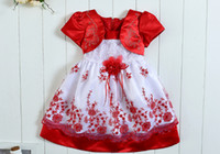 Wholesale retail baby Girl party Dresses Infant Princess cake Dress Girls Embroidery baby Baptism Dress kids girl Christening Gown kids clothing