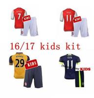 arsenal fashion - A quality16 Arsenal home and away jersey Kids Jerseys WILSHERE OZIL WALCOTT RAMSEY ALEXIS GIROUD Soccer Jersey