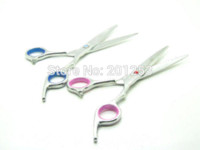 Wholesale VS Professional Cutting Scissors with Bule Red Rhinestone Hair Cutting Shears for Hairdresser or Home Used INCH LZS0116 LZS0119