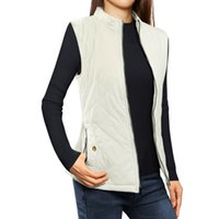 Wholesale Women s Outerwear Coats Zip Up Front Stand Collar Lightweight Quilted Padded Vest Chuvivi Unique Fashion Apparel