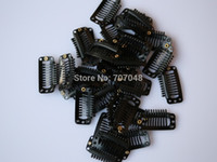 Wholesale price pieces Black color teeth Large Hair Clips Wigs Clip hair extension clips hair clips