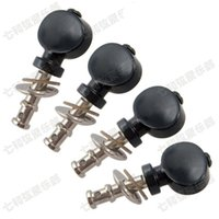Wholesale Black Ukulele Guitar strings button Tuning Pegs Keys tuner Machine Heads Guitar Parts Musical instruments accessories