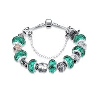 Wholesale More colors Fashion sterling Dasies Glass Crystal European and American Charm Beads Fits Charm Bracelets