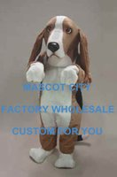 basset hound dogs - Coffee Basset Hound Mascot Costume Adult Size Friendly Basse Hound Dog Mascotte Mascota Outfit Suit for Party Carnival SW702