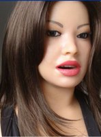al por mayor estilo perrito japonés muñeca del sexo-Doggie Style Sexo oral de la muñeca del sexo juguetes del sexo de la muñeca para los hombres Medias muñeca del amor del silicón Mannequin japonés Tamaño de la vida, muñeca del pelo