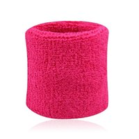 Wholesale High Quality Terry Cloth Cotton Sweatband Wrist Sweat Bands Wristband for Sports Gym Yoga Workout Women Men Wrist Brace Support