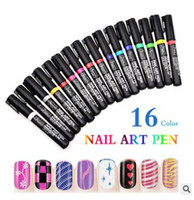 Wholesale New freeshipping colors Nail tools D painted flower pen point pen trace A brush DIY nail polish pen high qualiy hot sell