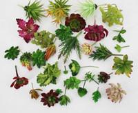 Wholesale Fashion Hot Simulation Succulents artificial flowers ornaments mini green Artificial Succulents Plants garden decoration