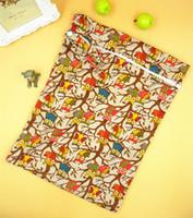 Wholesale NEW baby print color Cloth Diaper Washable Wet Dry Cloth Zipper Waterproof Diaper Bag
