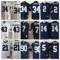 auburn college football - Throwback Auburn shirt Football College Cam Newton Michael Dyer Bo JACKSON jersey Tigers Tre Mason Nick Marshall Philip Lutzenkirchen
