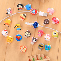 Wholesale Cute Design Protect Cover Lovely Cartoon Data Line Earphone Line Protective Cover Cartoon Mini Protect Case Cover
