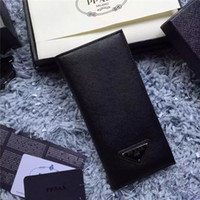 best leather wallet brands - Top quality new best brand wallet Classic grid folding wallet men and women universal long wallet leather clutch