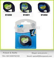 Wholesale 10pcs mm m black on white compatible DYMO LetraTag Tape Label Tape label paper DYMO label printer ribbons
