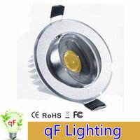 Wholesale Dimmable High Power COB recessed Led Downlights AC85 V W W W Warm Cool White Down Lights With Power Drivers ceiling Lighting
