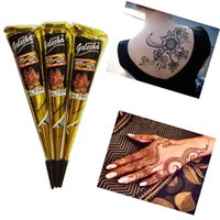 art paste - High Quality Henna Tattoo Paint For Body Art Natural Inaian Tattoo Henna Paste For Body Drawing Brown Arabic Tattoos P3