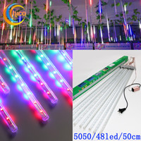 Wholesale 50cm led tree lights Meteor Shower Rain Outdoor LED Tube Strings led Christmas Lights Fairy Light Lighting set Waterproof