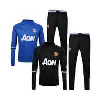 Wholesale Top Thai Quality Manchester tracksuit long sleeve shirts Soccer Wear Manchester Training suit men football sets ET
