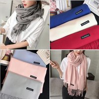 Wholesale New Fashion Long Scarves Chinese Winter Women Men Braided Knit Wool Plain Scarf Wrap Shawl Bestselling Cashmere Scarves