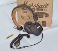 Cheap 2016 Newest !!! Marshall Major headphones With Mic Deep Bass DJ Hi-Fi Headphone HiFi Headset Professional DJ Monitor Headphone