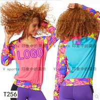 Wholesale new woman T shirt fashion T shirts blazers Aerobics fitness lose weight T shirt T256