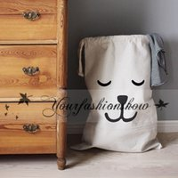 Wholesale Free DHL Baby bedroom Storage Canvas Bags new Kids Room cute Decorate Outdoor Lovely Cartoon bear batman Laundry Bags M229