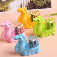 Wholesale 10 Cute Animal Plastic Pencil Sharpener Double Holes Sharpener Stationery Material Escolar