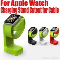 Wholesale New Charging E7 Stand Holder For Apple Watch Iwatch Magnetic Stander Desktop Smart Charger Bracket Anti Ski Docking Station for mm mm