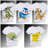 Wholesale Pokémon T shirt for Women Men Lahey Ram Feng Chao Dream Summer Short Sleeved t shirts DHL Hot Sale zk