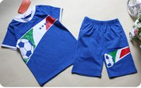 Wholesale Children Set Kids Boys Girls Football Sports Sets cotton Kids sets Clear Stock Bargain price