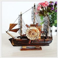 artistic music - Innovative artistic personality and taste in music box number decorative wooden sailboat YM805