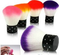 acrylic nail dust brush - New Colorful Nail tools Brush For Acrylic UV Gel Nail Art Dust Cleaner SQ C6R