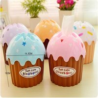 Wholesale Tissue Boxes creative cute ice cream cake towel tube with bath toilet paper tissue box car kit Toothbrush Cup high quality