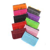 asia wholesale fashion - 30p BBA1875 color women storage cosmetic bag Makeup Bag Purse MP3 Mp4 Phone Organizer lady fashion bag in bag Sundry Bags Zipper Tidy Bag