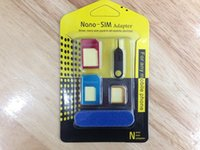 Wholesale New Aluminum Metal SIM Card Adapter Nano Micro Standard SIM In For All Mobile Phone Devies With Retail Package