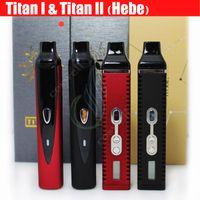 achat en gros de herb ecigarette-Herb Titan 1 Titan 2 Kit Dry Herb Vaporisateur ecigarette vaporisateurs kit Vape Titan 2200mah Temperature Control Systerm LCD Dispaly