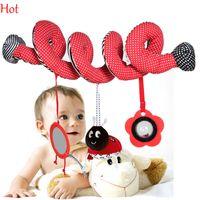 baby doll pram - Baby Toy Hang Multipurpose Pram Bed Circle Round Dolls Sound Paper Mirror Caterpillar Beetle Doll Baby Girl Boy Toys Activity Gift SV007214