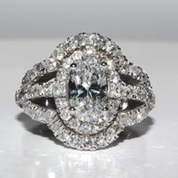 antique yellow sapphire ring - 2 GIA D E VS Oval Cut Diamond Engagement Ring Antique Halo Style k
