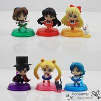 big pluto - 2016 Patrulla Canina Toys Dragon Ball sets Anime Sailor Moon Saturn Uranus Pluto Neptune Chibi Pvc Doll Figure Toys Gift for Girl set