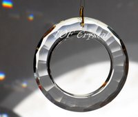 Wholesale mm Big O Ring Round Crystal Prisms Sun Catcher