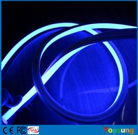 Wholesale 50M spool square flat SMD LED neon rope lights flexible strips red yellow blue green white RGB V V V