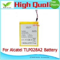 alcatel cell phone batteries - 10pcs High Quality battery testing good working For Alcatel TLP028A2 One Touch Cell Phone Repair Tool Tracking Battery