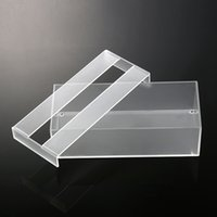 Wholesale 2016 Storage Case Plexiglass Tool Storage Boxes New Arrival Acrylic Clear Tissue Box Transparent Cover Rectangular Holder Size cm