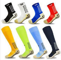 Wholesale Top Quality Anti Slip Tocksox Soccer Socks Trusox Mid calf Cotton Football Sock Calcetin de futbol Meias Calcetines Bale sox Z00557