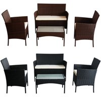 Wholesale Outdoor Rattan Weave Corner Lounge Sofa Set Rattan Weave Garden Furniture Set PIECE RATTAN GARDEN FURNITURE SET CHAIRS SOFA TABLE