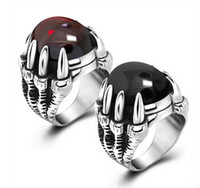 Wholesale NEW HOT men African ring Titanium steel retro swagger ruby ring diamond ring jewelry ring