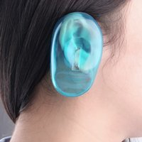 Wholesale Clear Silicone Ear Cover Hair Dye Shield Protect Salon Color Blue New Styling Accessories