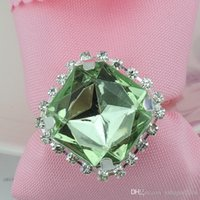 big dinner table - 2015 New Pure Big Diamond Gem Napkin Rings Serviette Holder Wedding Party Dinner Table Decoration Favor Supplies